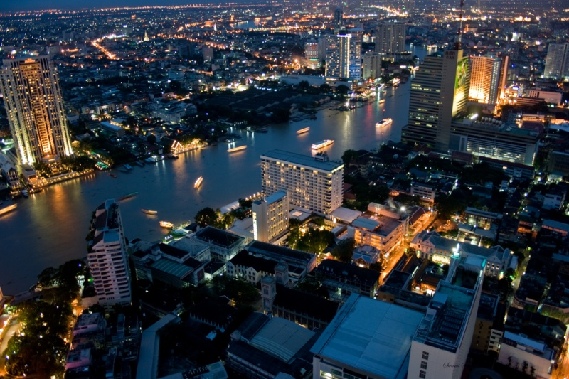 Bangkok and Chaopraya river (Swaminathan)