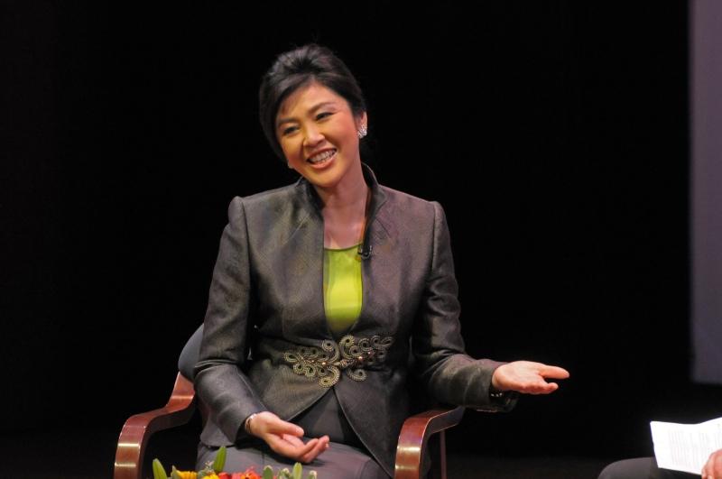 盈拉於Asia Society 演講。(Asia Society)