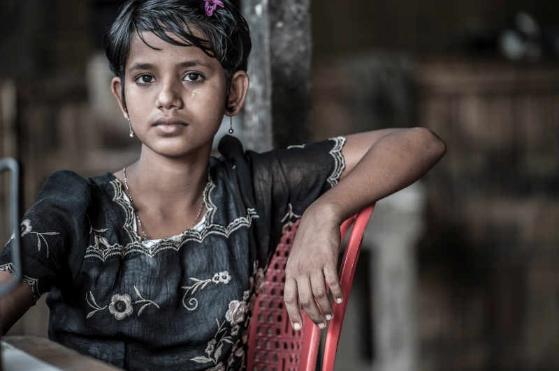 Sophisticated Rohingya girl (Steve Gumaer)