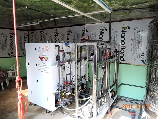 Qwater淨水設備進駐達拉淨水工廠,為當地居民提供長期穩定的安全飲用水源。(工研院)