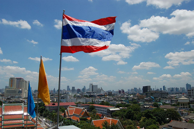Thailand flag by Crystal Hendrix Hirschorn