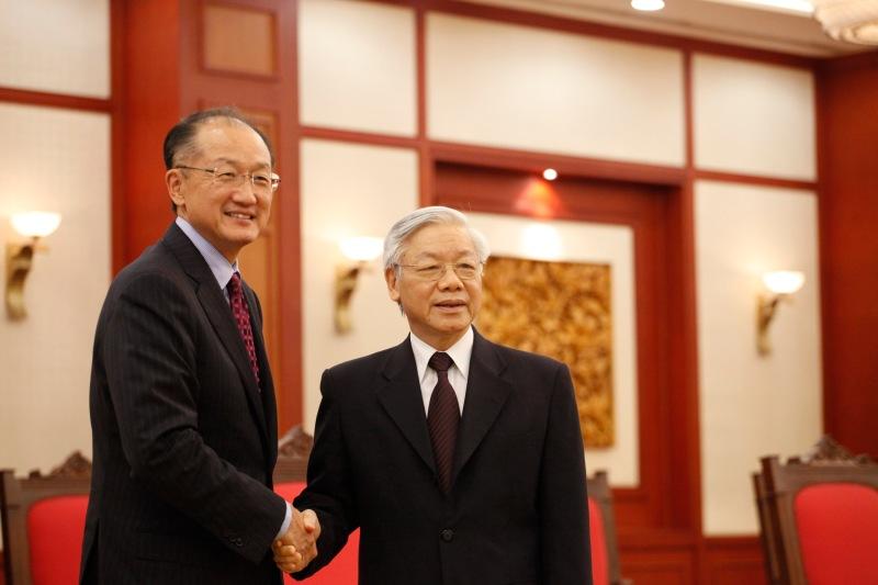 越南總理阮富仲與世界銀行主席金墉會面。(Photo Credit: World Bank Photo Collection @Flickr CC BY 2.0)