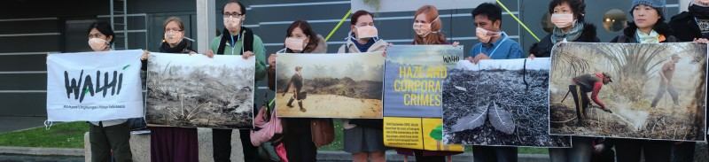 Walhi protest haze from corporate crime destruction Indonesian rainforest Takver@Flicker