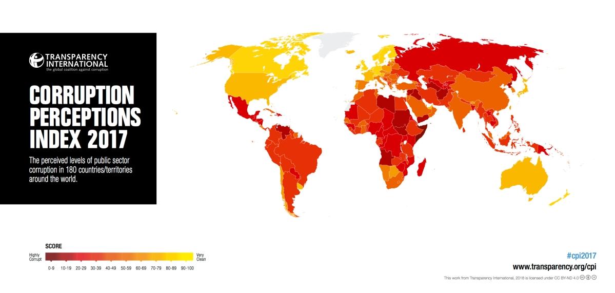 清廉印象指數報告 東南亞分數低於世界平均